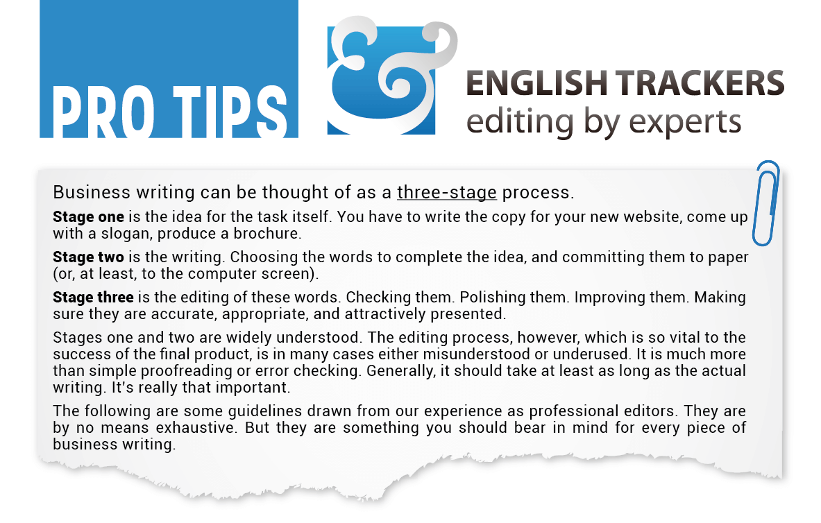 FREE English Editing Tips