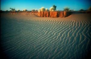 Sand in wadi ripples Sudan