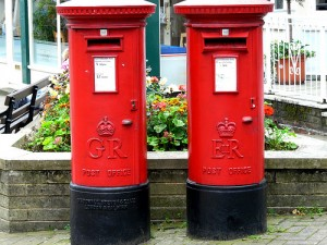 UK post boxes