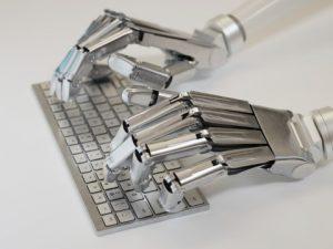 Silver Robot Computer
